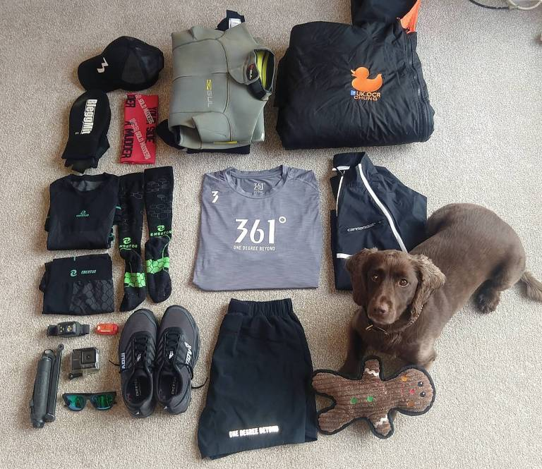 Flat Lay of race kit