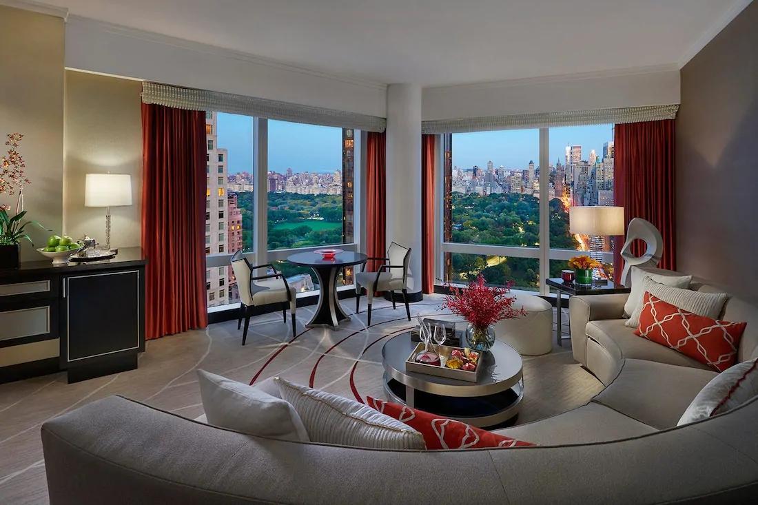 new york 15 suite central park view living room 01 3 result - Mandarin Oriental New York