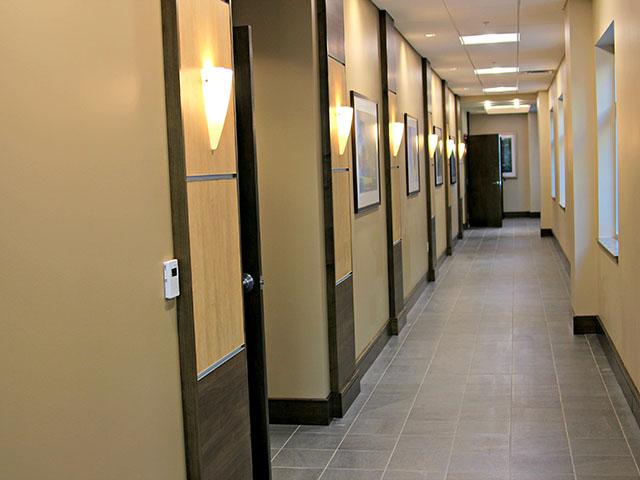 medical office hallway