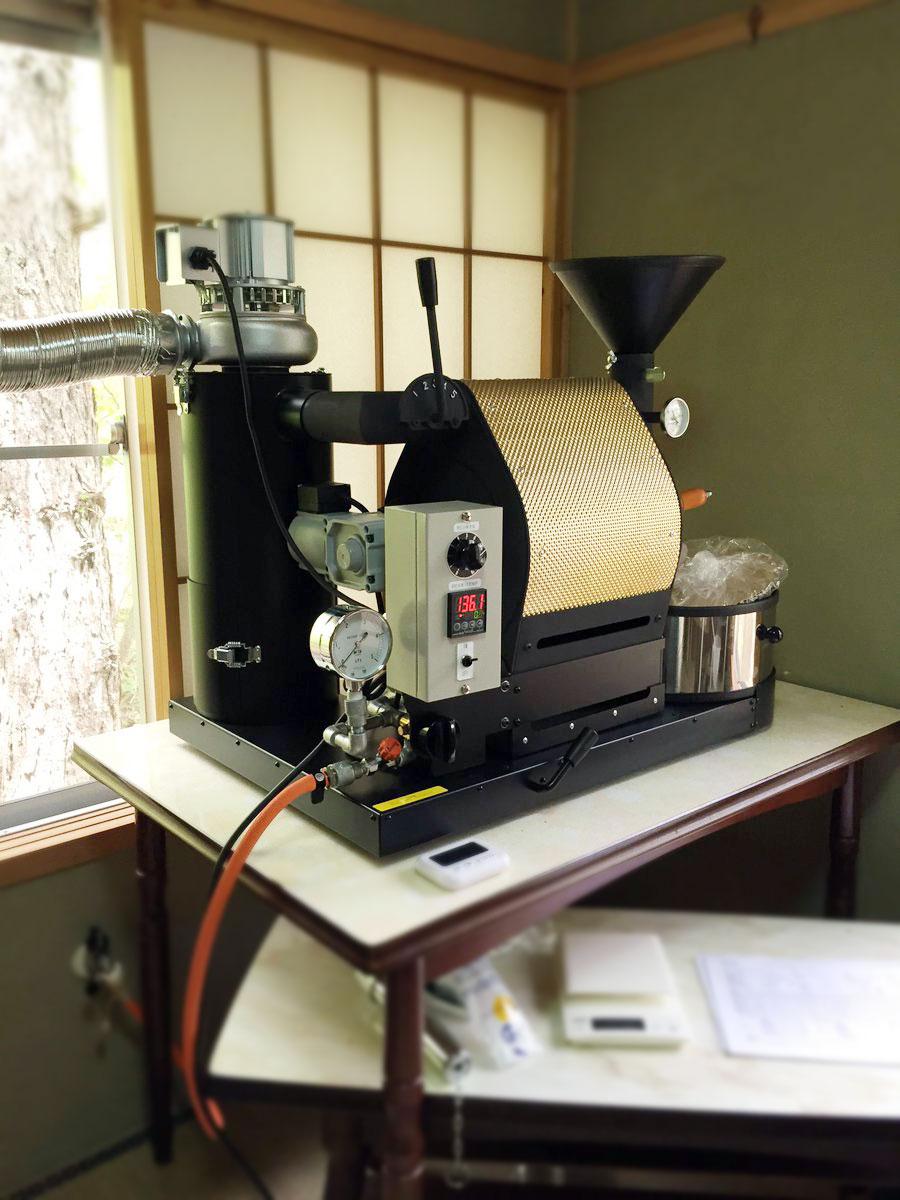 長野県白馬村にナナハン焙煎機を設置しました。