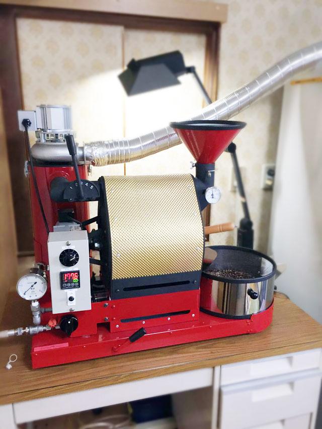 静岡県浜松市にナナハン焙煎機を設置しました。
