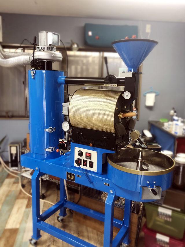 静岡県三島市に2kg焙煎機を設置しました。