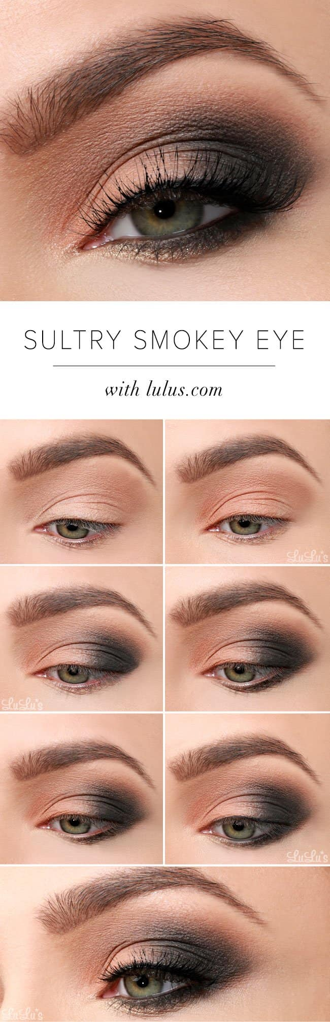 15 smokey eye tutorials - step by step guide to perfect hollywood makeup