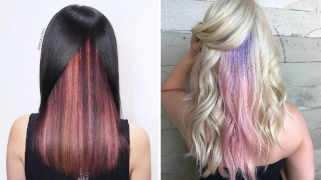 29 subtle and popping peekaboo highlights hairstyles