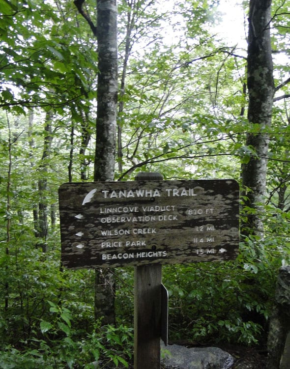 Tanawha trail sign