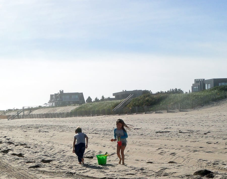 beach walk with kids shell collecting