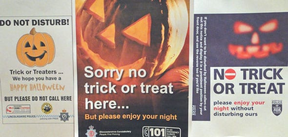 UK police Halloween posters