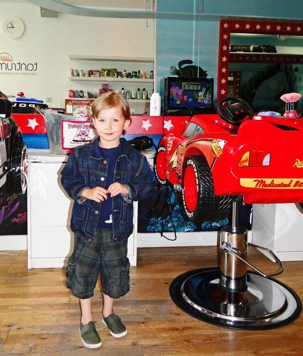 Inside top London childrens hair salon