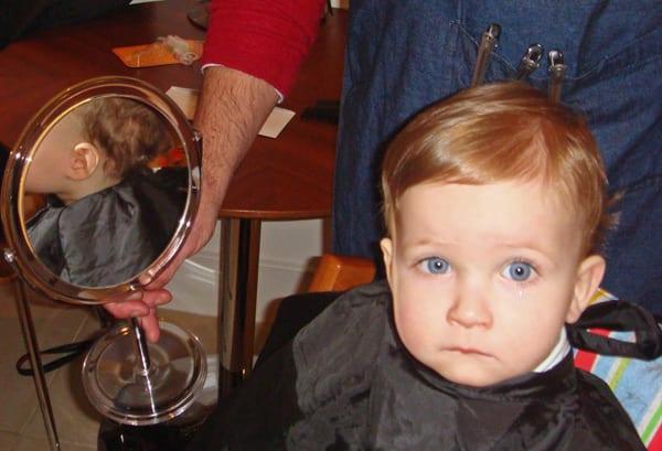 Tearful first haircut london