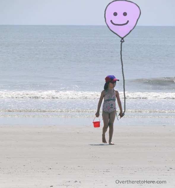 happy balloon beach