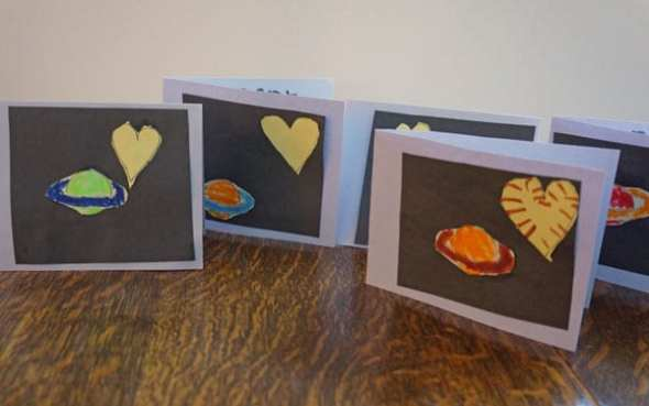 Homemade Valentine cards with free template
