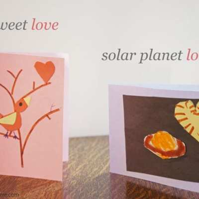 Tweet Love and Solar Planet Love Cards free template