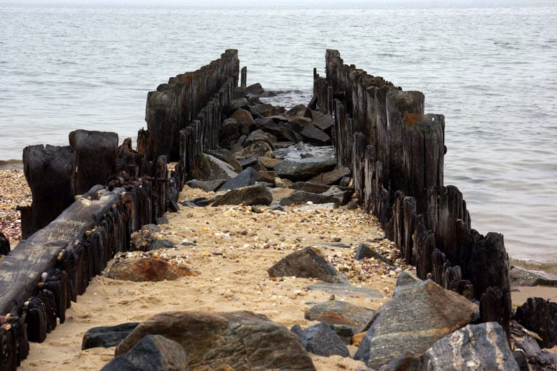 Alberts Landing beach Hamptons pier