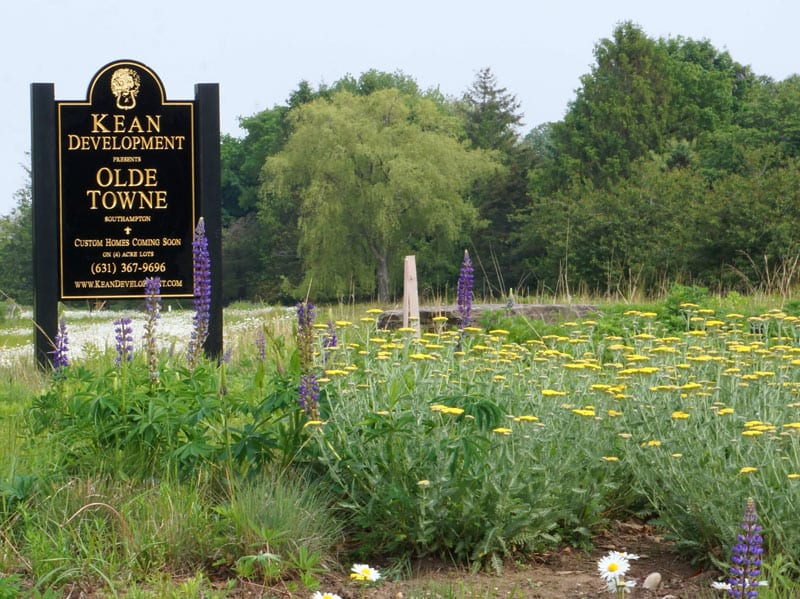 Olde Towne Kean Development sign