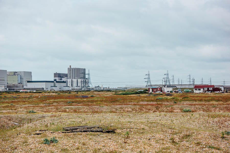 Dungeness Nuclear Power Station and Electricity Pylons