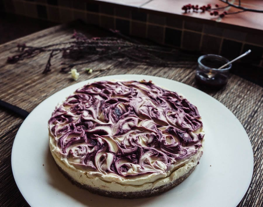 White Chocolate Cheesecake blackberry coulis recipe
