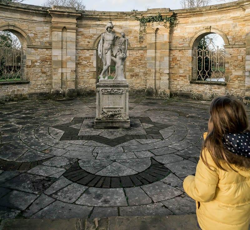 Hever Castle Italian garden Luce and Statue