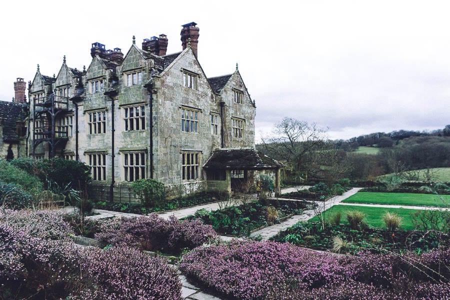 Gravetye February house and heather