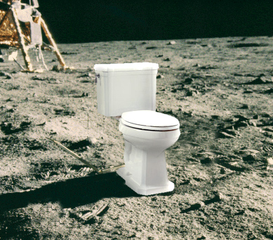 There are four bags of astronaut poop on the moon, left behind by Neil Armstrong on his Apollo mission to moon.