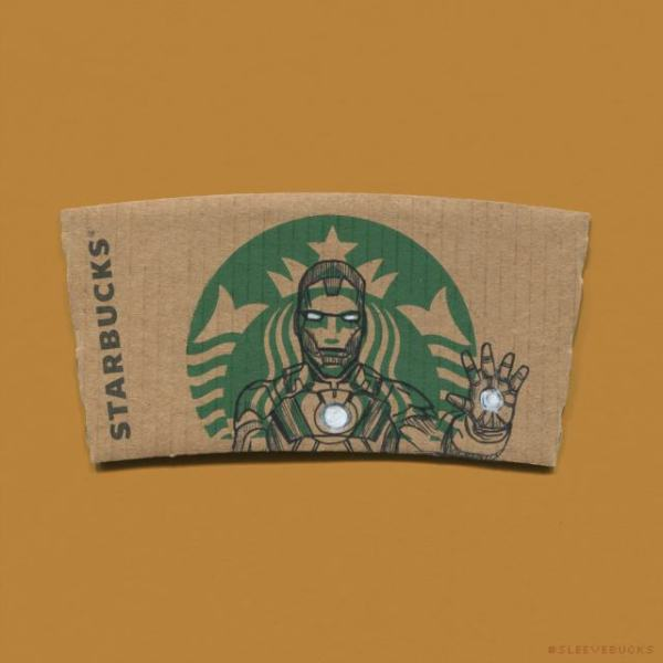 This Artist Uses Starbucks Mermaid Logo As a Pop Culture Template (20)