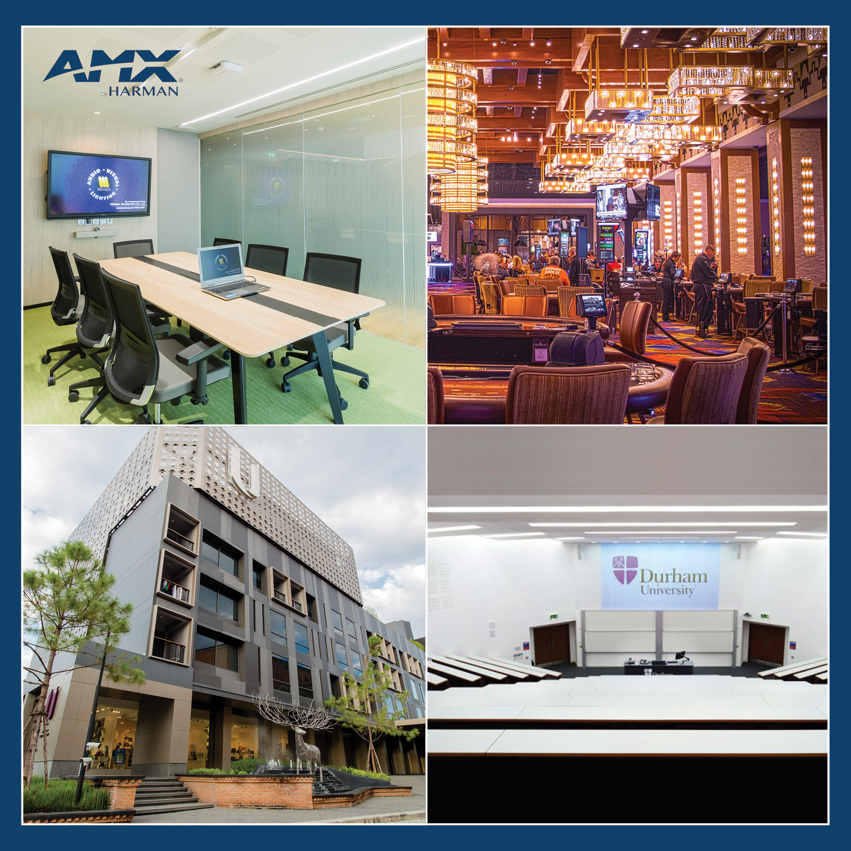 AMX provides state-of-the-art audiovisual solutions around the world