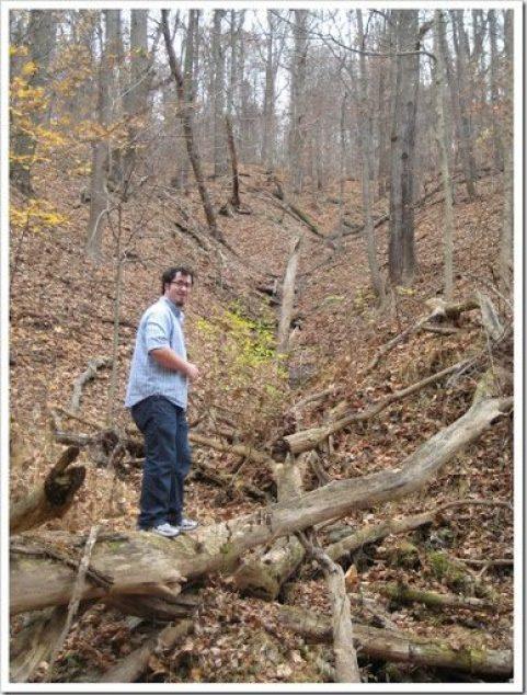 Bennett in the woods