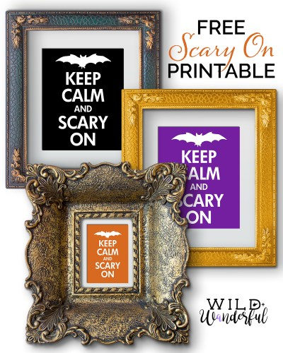 Scary On {Halloween Décor} | Free Printables