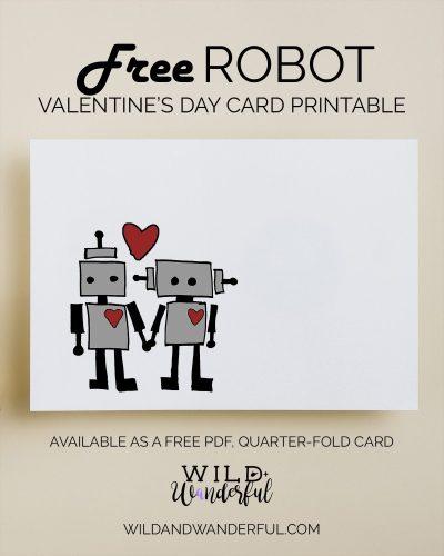 Robot Valentine | Free Printable