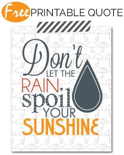 Rain Talk | Free Printable