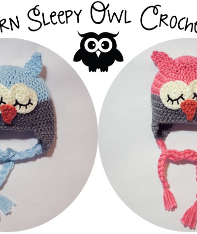 Sleepy Owl | Free Crochet Hat Pattern