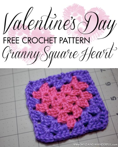 Granny Square Heart | Free Crochet Pattern
