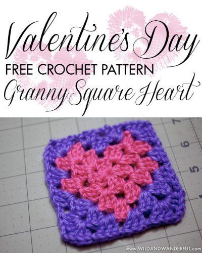 Granny Square Heart | Free Crochet Pattern