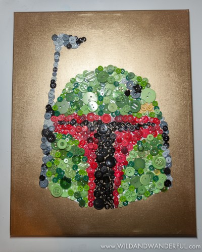 Boba Fett Button Art