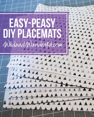 Easy-Peasy DIY Placemats