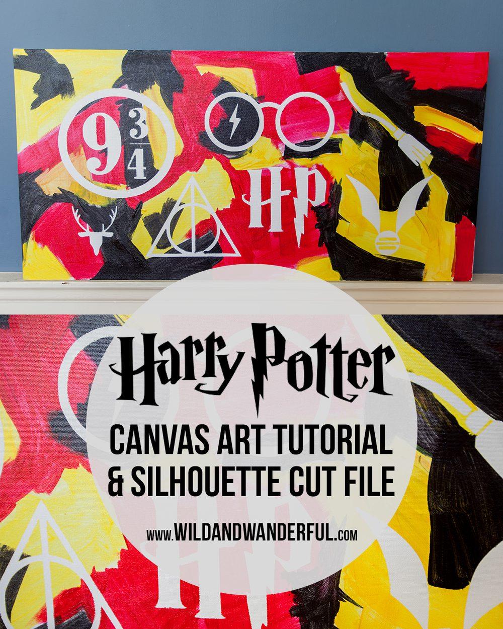 Harry Potter Wall Art Free Silhouette File Wild Wanderful