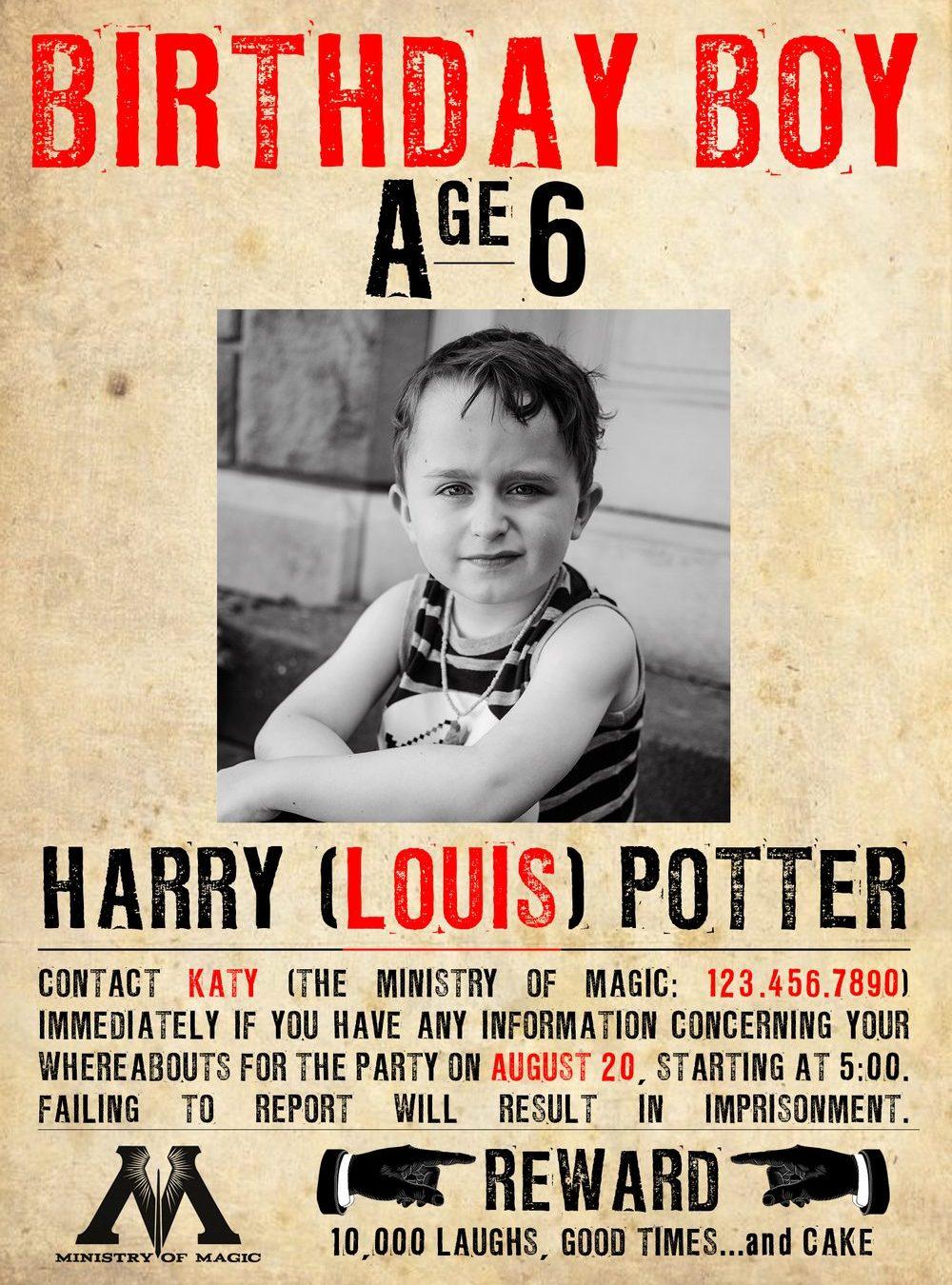 Happy Birthday, Harry [Louis] Potter!