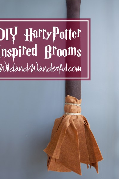 DIY Harry Potter-Inspired Quidditch Brooms