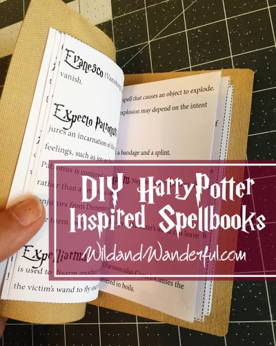 DIY Harry Potter Spellbook + Printable