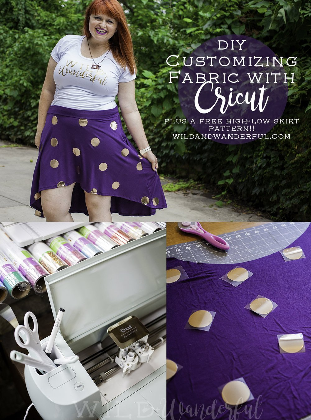 Customizing Fabric with Cricut (and a FREE skirt pattern!)