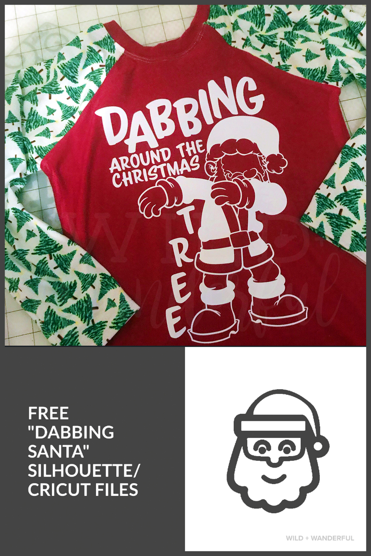 04a5483d Dabbing Around the Christmas Tree :: Free Silhouette + Cricut Cut Files!