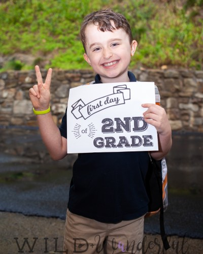First Day of 2nd Grade!