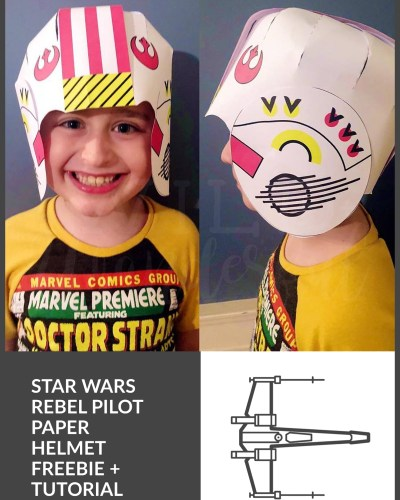 FREE Rebel Pilot Paper Helmet :: Star Wars Birthday Party