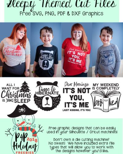 P4P Holiday Freebies :: Sleepy Cut Files