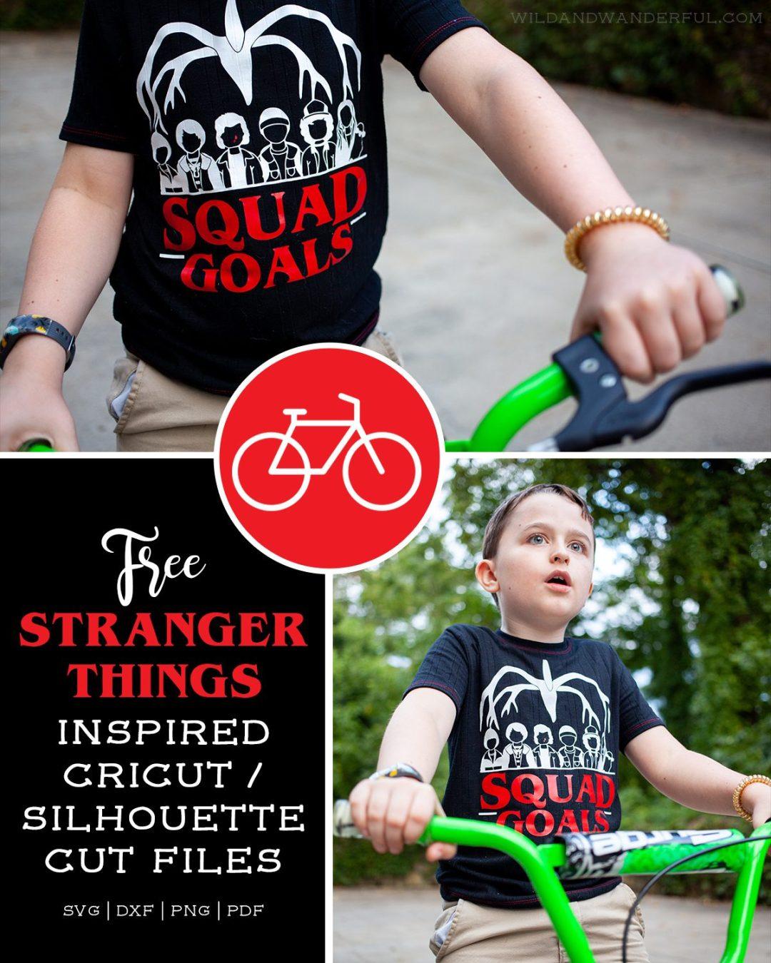 "Stranger Things ""Squad Goals"" :: FREE Silhouette + Cricut Cut Files!"