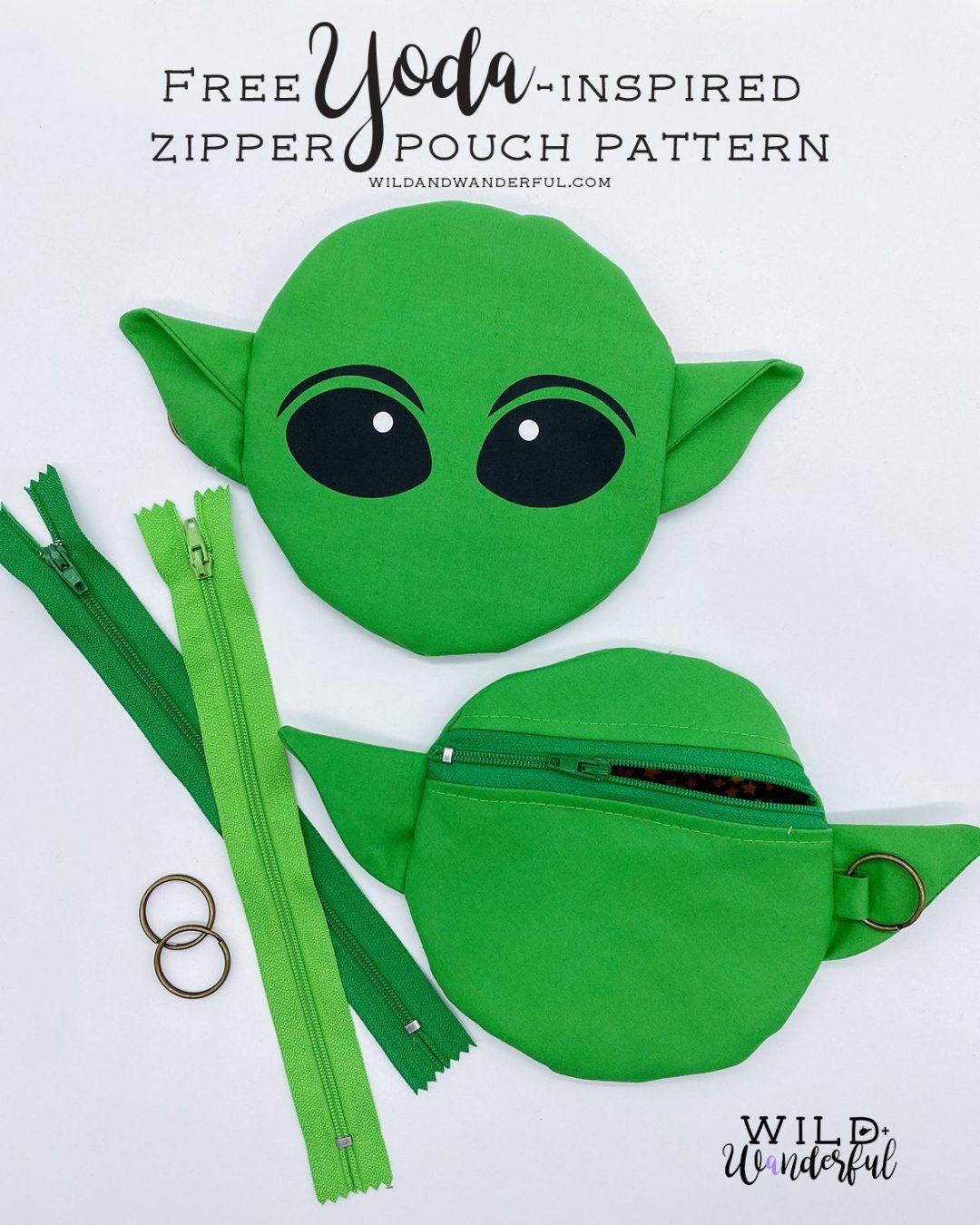 Yoda One for Me :: FREE Yoda-Inspired Zipper Pouch Pattern + Tutorial!