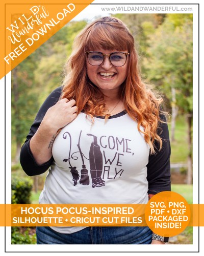 Come, We Fly! :: FREE Hocus Pocus Inspired Silhouette + Cricut Cut Files!