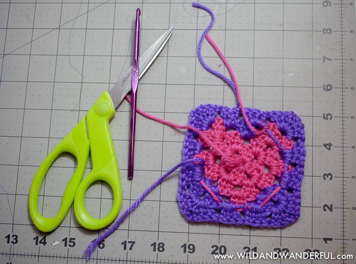 Granny Square Heart Free Crochet Pattern Wildwanderful