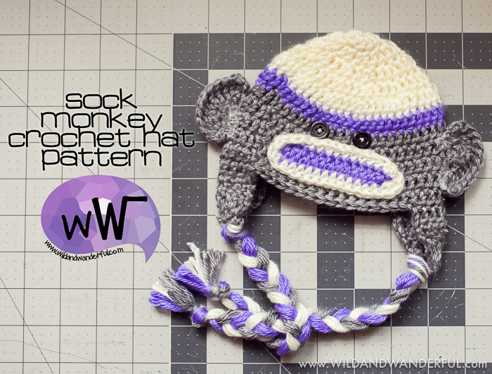 Sock Monkey Hat Free Crochet Pattern
