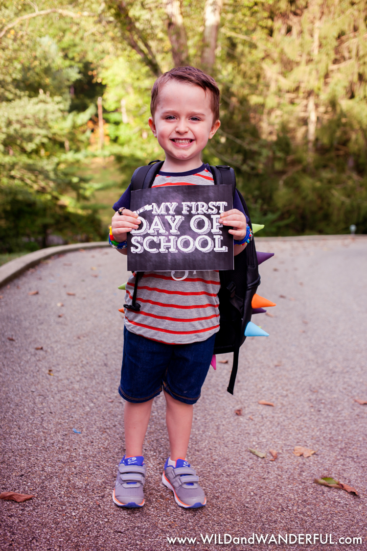 Want your own First Day of School printable?  My galpal Nicole has them available [HERE].