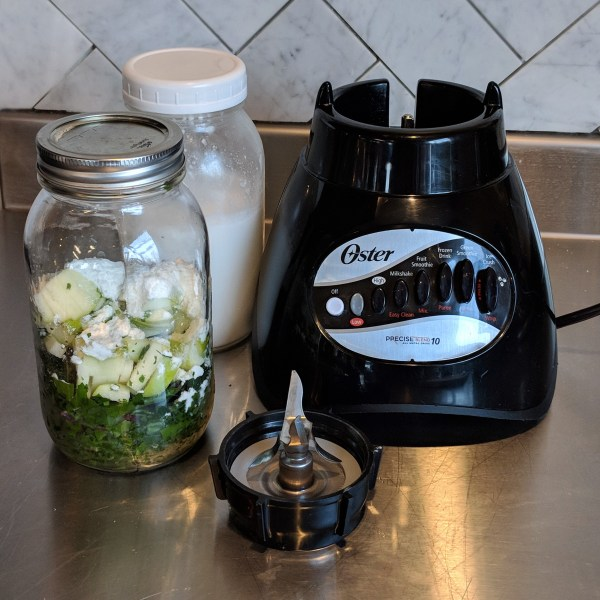 Blender with make ahead smoothies